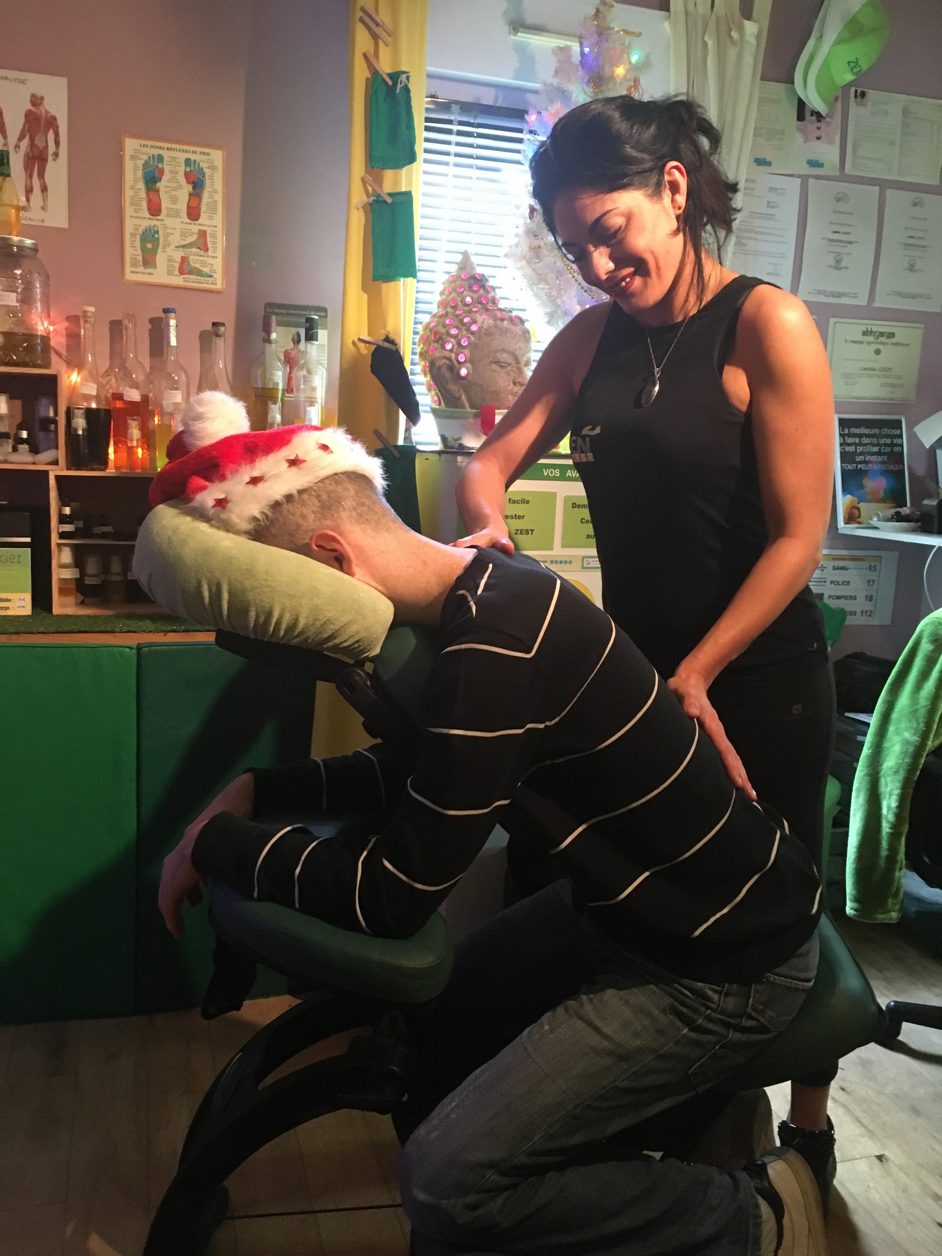 massage détente sur chaise